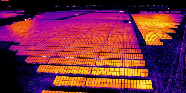 Thermografie an Photovoltaikanlagen